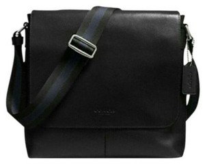 Coach Cross Body Messenger Charles Signature Sullivan Black Messenger Bag