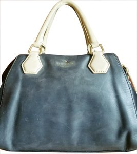 Kate Spade Satchel in charchol, black and cream