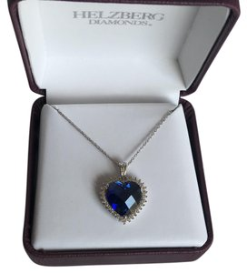 Helzberg Diamonds Heart of the Ocean Sapphire and Diamond Necklace
