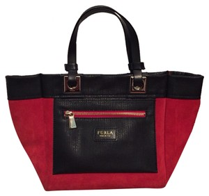Furla Tote in Black & Red