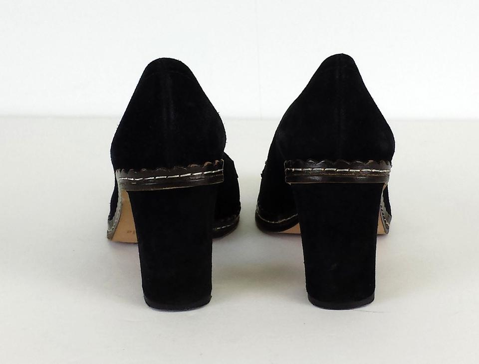 ed0a7e5dacb Kate Spade Black Suede Heeled Loafer Pumps Size US 5 Regular (M