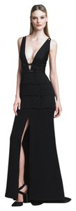 Hervé Leger Fringe Gown Dress