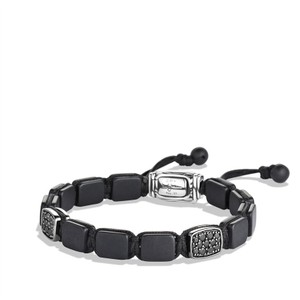 a9ded488c196f1 David Yurman David Yurman Tile Bracelet with Pave Black Diamonds, 0.74  Total carat