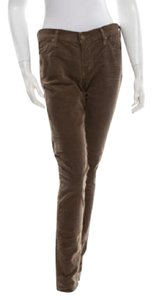 Citizens of Humanity Corduroy Low Rise Stretch Slim Skinny Pants Brown