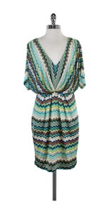 Trina Turk short dress Multicolor Chevron V Neck on Tradesy