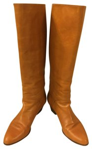 Bruno Magli Camel Leather Boots