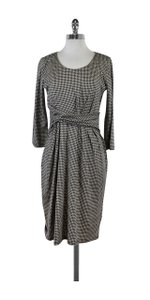 Max Mara short dress Beige Black Houndstooth Print on Tradesy