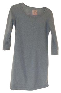UGG Australia short dress Slate Blue Heather Stretchy Knit Cotton Blend Fleece Lined Fleecy on Tradesy