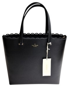 Kate Spade Laptop Work Professional Tassle Tote in Black