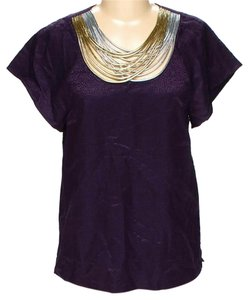 3.1 Phillip Lim Textured Embellished Silk Wool Top Purple
