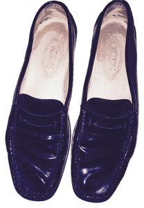 Tod's Driving Mocs Black patent leather Flats