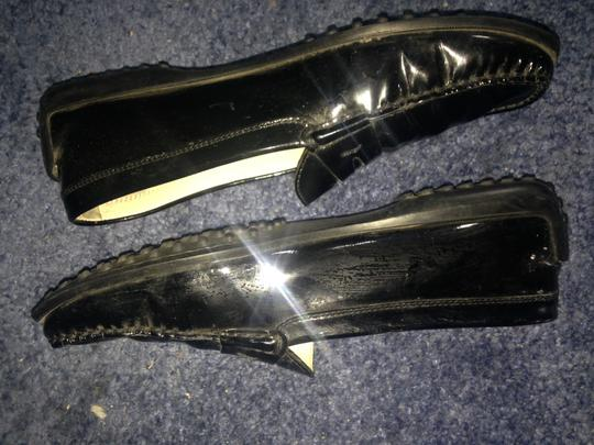 Tod's Driving Mocs Black patent leather Flats Image 11