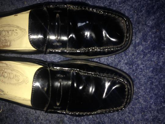 Tod's Driving Mocs Black patent leather Flats Image 7