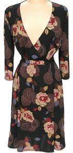 BCBGMAXAZRIA Floral Wrap Dress