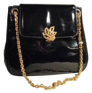 Prestige Vintage Patent Leather Satchel in black