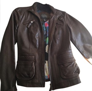 lucky leather coat brown Leather Jacket