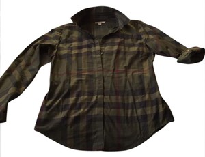 Burberry Button Down Shirt green