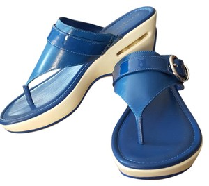 Cole Haan Comfortable Stylish Air Maddy Blue Sandals