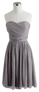 J.Crew Strapless Sweatheart Silk Chiffon Bridesmaid Dress