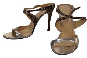 Ivanka Trump Stiletto Snakeskin Sandal Silver Formal