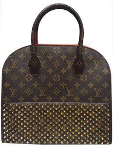 Louis Vuitton Satchel in Red, Brown, Gold