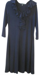 Ralph Lauren Ruffle Front Stretch Business 3/4 Sleeve Career Dress