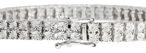 Other Double Row Genuine Diamond Bracelet in White Gold Finish - 7.5 inch