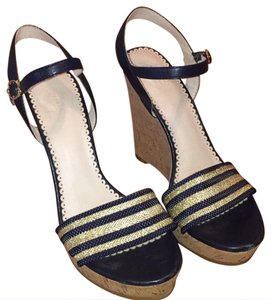 C. Wonder Navy & Gold Wedges
