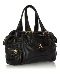 Marc by Marc Jacobs Large Leather Satchel in Black