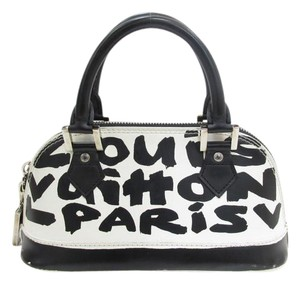 Louis Vuitton Satchel in black white