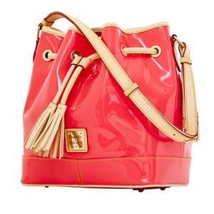 Dooney & Bourke & Patent Leather Drawstring Shoulder Bag