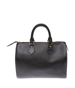 Louis Vuitton Lv Speedy Epi Satchel in Black