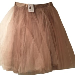 Space 46 Boutique Skirt coffee/tan