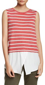 Sanctuary Clothing Sleeveless Knit Print Top Red White