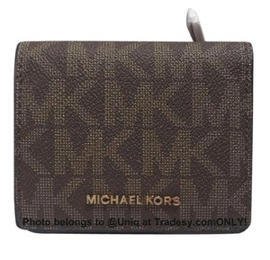 Michael Kors NWT MK Medium Logo Monogram Bi-fold Billfold Snap Wallet Coin Purse