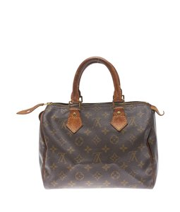 Louis Vuitton Monogram Coated Canvas Leather Satchel in Brown