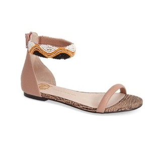 House of Harlow 1960 Ankle Strap Beige Sandals