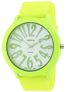 Geneva Geneva Large Face Silicone Cuff Watch