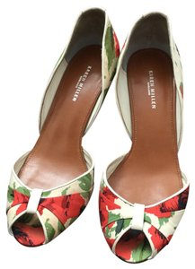 Karen Millen Red and green on ivory Pumps