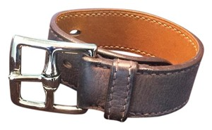 Hermès Hermes Large Etriviere Bracelet in Brown Leather