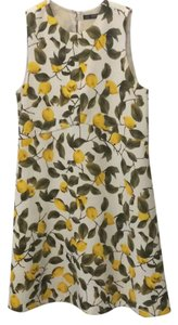 Zara short dress green yellow white on Tradesy