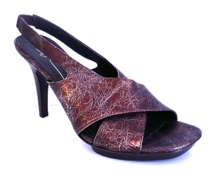 Donald J. Pliner J. Slingback Leather Metallic New Without Box Pumps