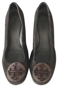 Tory Burch Sally Suede Brown Wedges