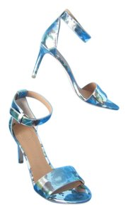 Marc by Marc Jacobs Jerrie Rose Ankle Strap Stiletto Blue Sky Multi Sandals