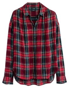 Madewell Shirt Central Button Down Shirt Plaid