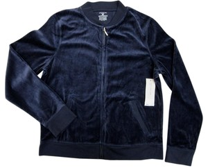 Jones New York Sport Cardigan Workout Jacket Velour Jacket