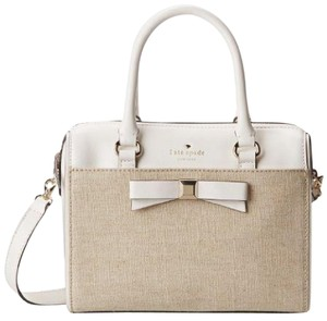 Kate Spade Satchel in White, linen