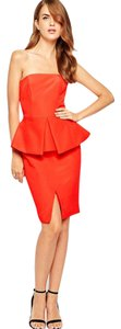 Finders Keepers Peplum Bandeau Slim Fit Dress
