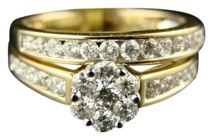 Other LADIES WOMENS FLOWER BRIDAL ENGAGEMENT DIAMOND RING 1.0 CT
