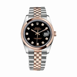 Rolex Rolex Datejust 36mm with Factory Diamond Dial, Two Tone with Rose Gold